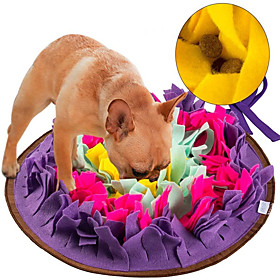 Feeding Mat Snuffle Mat Dog Play Toy Dog 1pc Flower Foldable Washable Pet Exercise Encourage Natural Foraging Skills Polyester Gift Pet Toy Pet Play