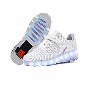 Boys' Girls' Sneakers LED Shoes USB Charging Luminous Fiber Optic Shoes PU LED Shoes LED White Blue Red All Seasons Category:Sneakers; Upper Materials:PU; Embellishment:LED; Season:All Seasons; Gender:Girls',Boys'; Style:Luminous Fiber Optic Shoes,USB Charging,LED Shoes; Shipping Weight:0.5; Listing Date:12/17/2020; 2020 Trends:Heelys Shoes,LED Shoes,Roller Shoes,Wheel Shoes; Foot Length:null