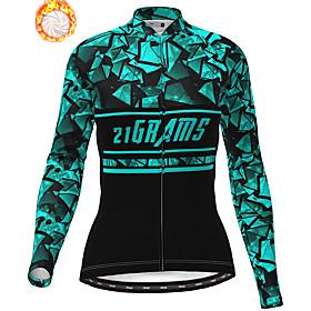 21Grams Women's Long Sleeve Cycling Jacket Winter Fleece White Purple Blue Bike...