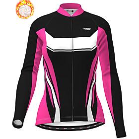 21Grams Women's Long Sleeve Cycling Jacket Winter Fleece Purple Red Fuchsia Bike...