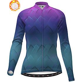 21Grams Women's Long Sleeve Cycling Jacket Winter Fleece Purple Bike Jacket Top...