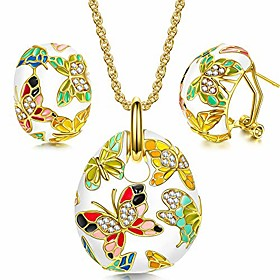 Women Jewelry Gifts for Her for Women Vintage Enamel Butterfly Necklace Earrings Jewelry Jewelry Gifts for Women Gifts for Mom Girlfriend Christmas Birthday Gi Shipping Weight:0.091; Package Dimensions:8.97.43.8; Listing Date:01/18/2021
