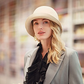 Headwear Casual / Daily 100% Wool Hats with Crystal / Rhinestone / Solid 1pc Casual / Daily Wear Headpiece