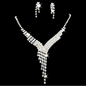 Women's Jewelry Set Bridal Jewelry Sets Tassel Fringe Precious Fashion Silver Plated Earrings Jewelry Silver For Christmas Wedding Halloween Party Evening Gift Gender:Women's; Quantity:1 set; Theme:Precious; Shape:Geometric; Style:Fashion; Jewelry Type:Jewelry Set,Bridal Jewelry Sets; Occasion:Halloween,Gift,Christmas,Wedding,Party Evening; Material:Alloy,Silver Plated,Rhinestone; Design:Tassel Fringe; Brand:Lucky Doll; Shipping Weight:0.035; Listing Date:01/12/2021