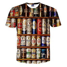 beer can graphics tee