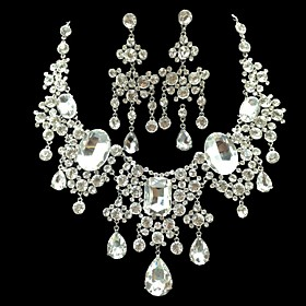 Women's Jewelry Set Earrings Jewelry White For Wedding Anniversary Party Evening 1 set Gender:Women's; Quantity:1 set; Jewelry Type:Jewelry Set; Occasion:Anniversary,Wedding,Party Evening; Material:Rhinestone; Shipping Weight:0.02; Listing Date:03/02/2021