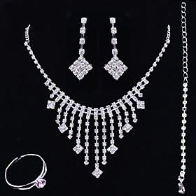 Women's Jewelry Set Elegant Classic Earrings Jewelry Silver For Wedding Anniversary Party Evening 1 set Gender:Women's; Quantity:1 set; Style:Elegant,Classic; Jewelry Type:Jewelry Set; Occasion:Anniversary,Wedding,Party Evening; Material:Alloy; Shipping Weight:0.01; Listing Date:03/02/2021