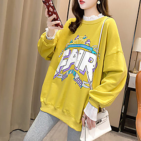 Women's Sweatshirt Sweater Pullover 2 in 1 Crew Neck Letter Printed Sport Athleisure Sweatshirt Top Long Sleeve Breathable Soft Comfortable Everyday U