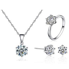 Women's Jewelry Set Fashion Imitation Diamond Earrings Jewelry White For Festival 1 set Gender:Women's; Quantity:1 set; Shape:Round; Style:Fashion; Jewelry Type:Jewelry Set; Occasion:Festival; Material:Imitation Diamond; Shipping Weight:0.01; Package Dimensions:13.013.01.0; Listing Date:03/25/2021