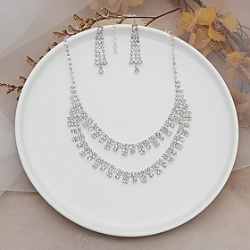 Women's Jewelry Set Elegant Classic Earrings Jewelry Silver For Wedding Anniversary Party Evening 1 set Gender:Women's; Quantity:1 set; Style:Elegant,Classic; Jewelry Type:Jewelry Set; Occasion:Anniversary,Wedding,Party Evening; Material:Alloy; Shipping Weight:0.015; Listing Date:03/02/2021