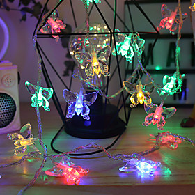 Butterfly Fairy String Lights 6M 40LEDs 3M 20LEDs 1.5M 10LEDs Battery Operated Christmas Wedding Garden Party Decoration Lights