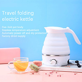 0.75l electric kettle silicone foldable portable travel camping water boiler adjustable voltage home electric appliances Listing Date:04/15/2021