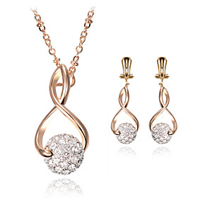 Women's Jewelry Set Bridal Jewelry Sets Geometrical Precious Fashion Gold Plated Earrings Jewelry Gold For Christmas Wedding Party Evening Gift Formal 1 set Gender:Women's; Quantity:1 set; Theme:Precious; Shape:Geometric; Style:Fashion; Jewelry Type:Jewelry Set,Bridal Jewelry Sets; Occasion:Gift,Christmas,Wedding,Formal,Party Evening; Material:Alloy,Gold Plated,Rhinestone; Design:Geometrical; Brand:Lucky Doll; Shipping Weight:0.015; Listing Date:04/20/2021