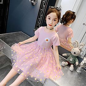 girls' dresses 2020 new summer dresses, big children's net red foreign princess dresses, little girls dresses Listing Date:04/20/2021