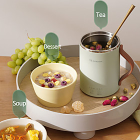 portable electric kettle boiled water tea pot heated/stew cup health preserving pot desktop mini kettle for office home 350ml Listing Date:04/15/2021