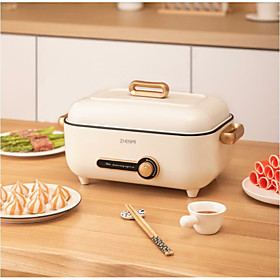 Xiaomi 220V Electric Multi Cooker 4L Household Multifunction Hot Pot Portable Frying Pan Electric Cooking Machine Voltage (V):220; Brand:Xiaomi; Net Weight:1.9; Listing Date:04/19/2021