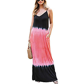 hiistandd women's sleeveless long dresses maxi dresses casual summer dresses round neck floral dresses Listing Date:04/30/2021