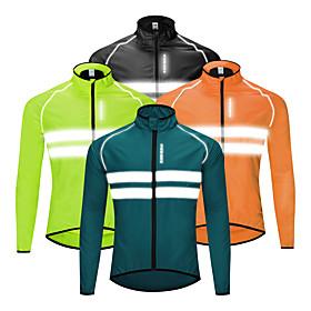 WOSAWE Men's Cycling Jacket Winter Bike Windbreaker Top Waterproof Windproof Breathable Sports...