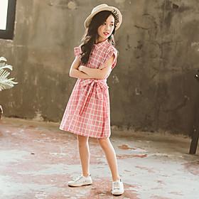 plaid dresses, big children's summer 2020 new girls' dresses, children's clothes, little girls' clothes, summer princess dresses Listing Date:04/20/2021