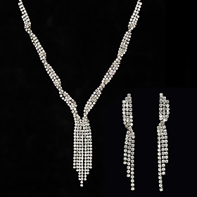 jewelry set full diamond tassel necklace earrings set wind item jewelry sweater chain Shipping Weight:0.05; Package Dimensions:10.010.01.0; Listing Date:06/03/2021