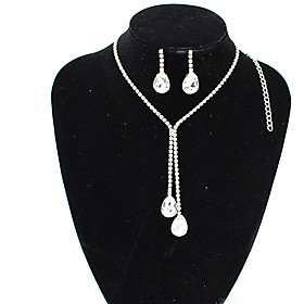 korean version of large crystal gemstone bridal jewelry european and american wedding diamond jewelry two-piece set cn9073 Shipping Weight:0.05; Package Dimensions:20.010.05.0; Listing Date:06/09/2021