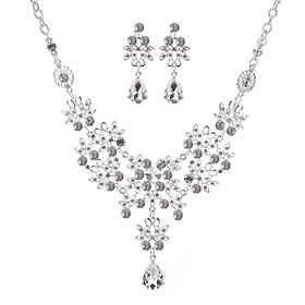 bridal jewelry necklace wholesale korean version of jewelry european and american two-piece alloy jewelry set wholesale Shipping Weight:0.05; Package Dimensions:20.010.05.0; Listing Date:06/09/2021