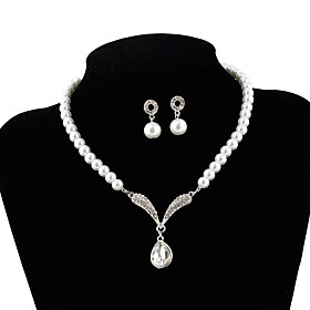 bride jewelry pearl set korean necklace wholesale korean wedding bridal jewelry set 9254 Shipping Weight:0.05; Package Dimensions:20.010.05.0; Listing Date:06/09/2021