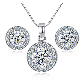 jewelry set fashion jewelry set shiny zircon necklace earring set Shipping Weight:0.05; Package Dimensions:10.010.01.0; Listing Date:06/03/2021