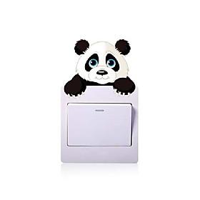cartoon cat bear plug and switch button sticker Listing Date:07/28/2021