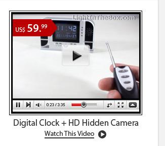 Digital Clock+ HD Hidden Camera