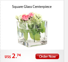 Square Glass Centerpiece
