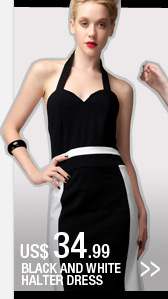 Black and White Halter Dress