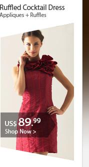 Ruffled Cocktail Dress