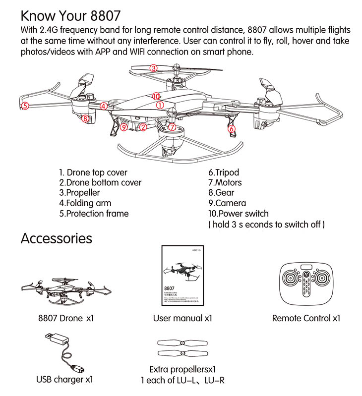 Rc Drone 8807w Rtf 4ch 6 Axis 24g With Hd Camera 20mp 720p. Product Description. Wiring. Drone Wi Fi Camera Wiring Diagram At Scoala.co