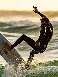 Surfing, dykking og snorkeli...