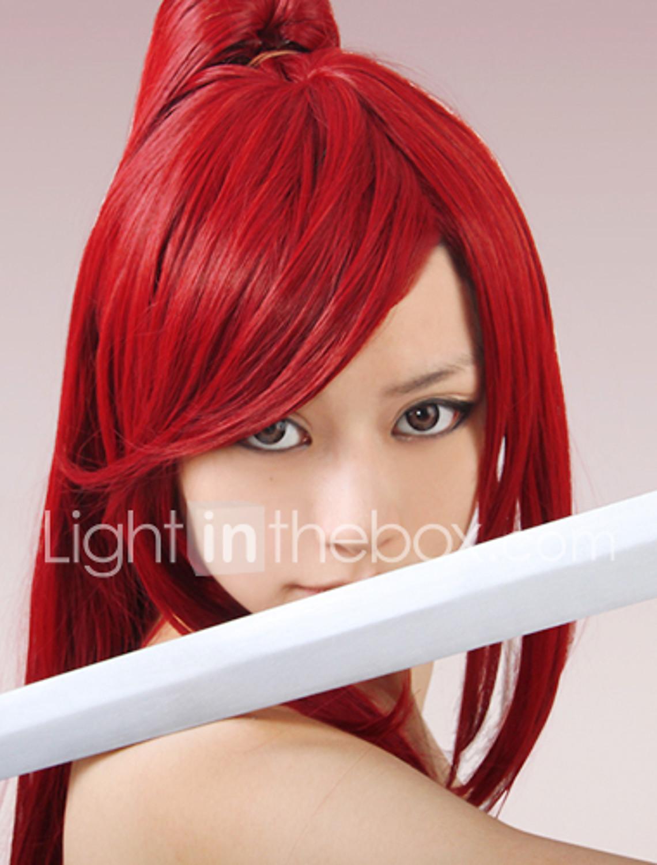 Parrucca Cosplay Mioda Ibuki , Parrucca Cosplay lunga rosa nera e blu per donna Parrucca di Halloween
