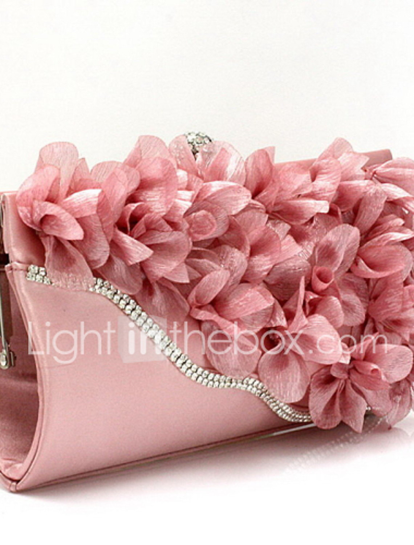Flower Handmade Austrian Crystal Wallet Cocktail Evening Pack Wedding Bag