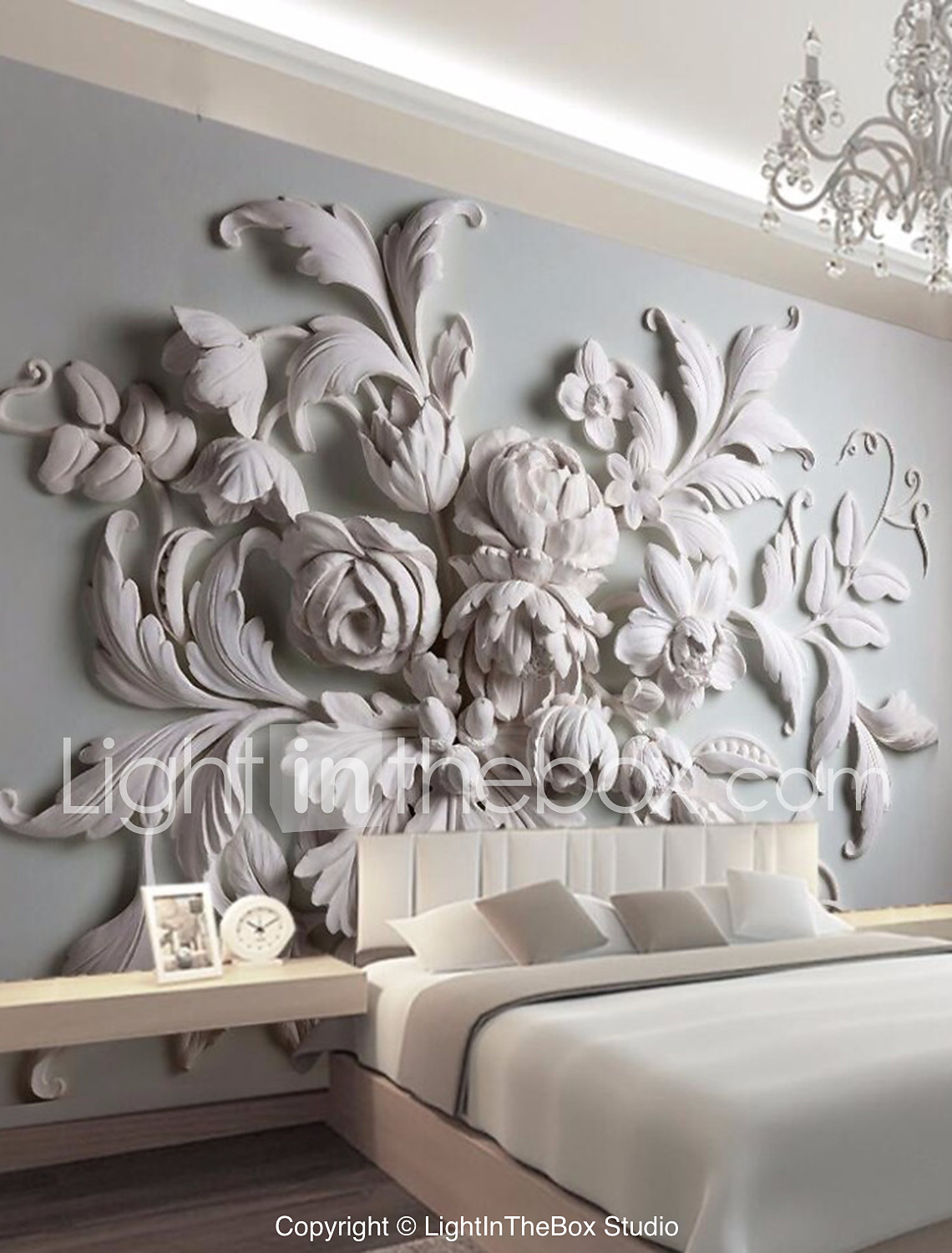 Large Floral Removable Peel And Stick Wallpaper Wall Mural