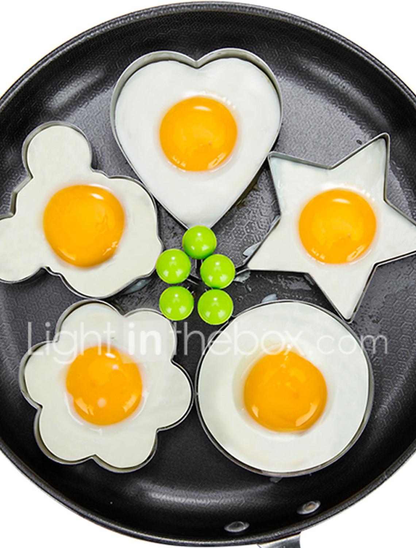 Smile Face Egg Mold Fried Egg Mold Pancakes Omelette Kitchen Egg Tools Gadgets