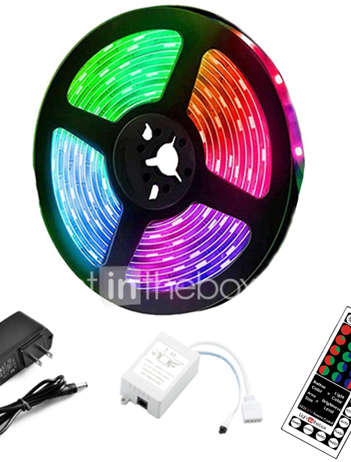 LiNKFOR Car LED Strip Light,4PCS DC 12V Remote Control Interior Lights Multi Color Wireless Music Car Strip Light for Lighting up The Entire Car Interior Plug and Play