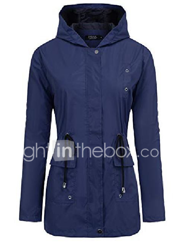 Pervobs Casual Coat for Women with Hoodie Autumn Lightweight Windbreaker Jacket Full Zipper Cat Claw Print Outwear Coat