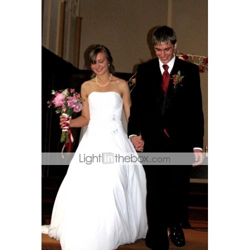 813ea696a3525 ... منفوش بدون حمالات ذيل كاتيدرائية شيفون فساتين الزفاف صنع لقياس مع حصى  بواسطة LAN TING BRIDE