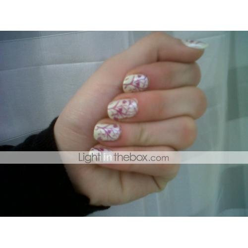 c00b088311166 ... Encantador arte de uñas Manicura pedicura Metal Flor   Abstracto    Clásico Diario   Dibujos
