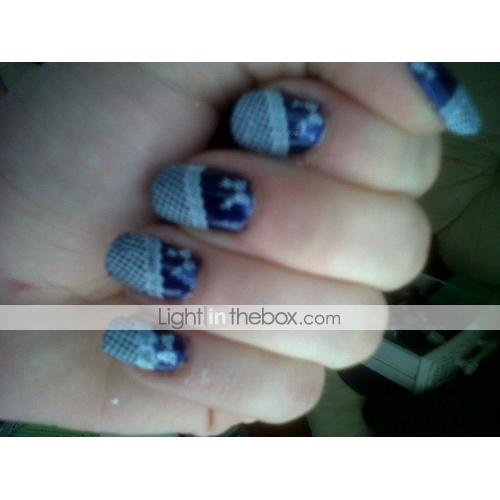 ac05b6965315c Encantador arte de uñas Manicura pedicura Metal Flor   Abstracto   Clásico  Diario   Dibujos ...