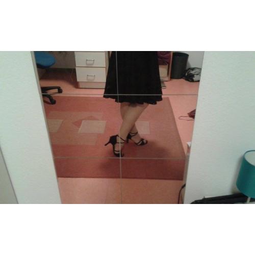 9ecd0dea7 ... نسائي متدفق أحذية رقص / صالة الرقص صندل كعب مخصص مخصص أسود / جلد / جلد