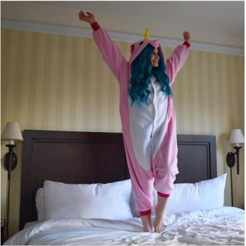 Pyjamas De Combinaison Unicorn Adulte Kigurumi Polaire SwfO1dq