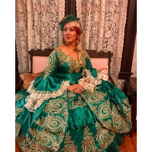 3bf4dc394526 Marie Antoinette Rococo 18. století Kostým Dámské Šaty Kostým na Večírek  Maškarní Plesové Zelená Retro ...