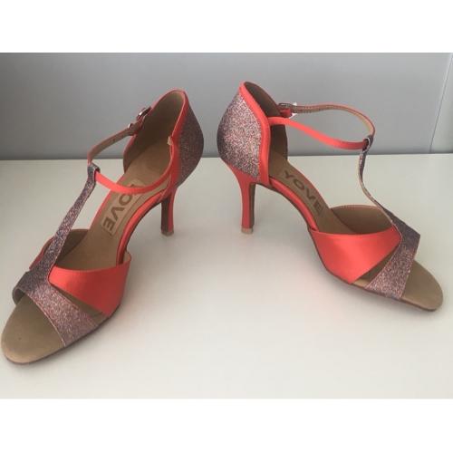 49f1d15db ... Mulheres Sapatos de Dança Latina / Dança de Salão Cetim Sandália  Presilha Salto Personalizado Personalizável Sapatos ...