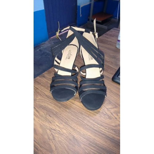 72c55c56b48 ... Dámské Semišování Sandály Přezky Vysoký úzký Obyčejné Taneční boty Černá    Trénink ...
