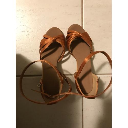 f454a129b SUN LISA® Women's Latin Shoes / Salsa Shoes Satin Sandal Buckle Customized  Heel ...